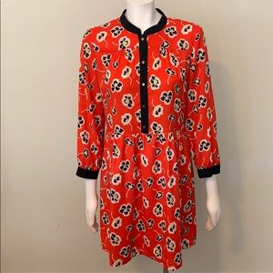 Juicy Couture red and black floral dress size 8